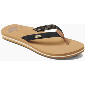 Reef Cushion Sands Sandalen Dames, black/tan